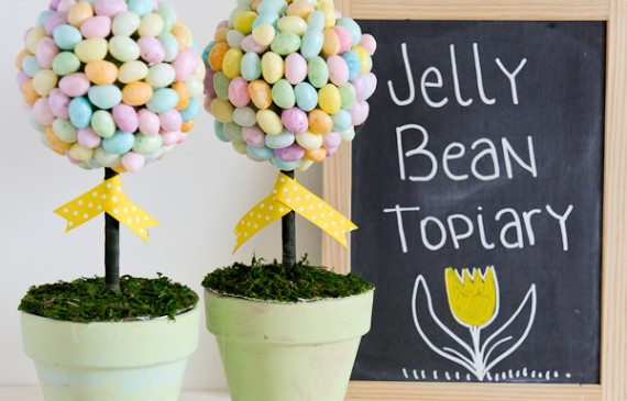 Easy Jelly Bean Topiary Tutorial