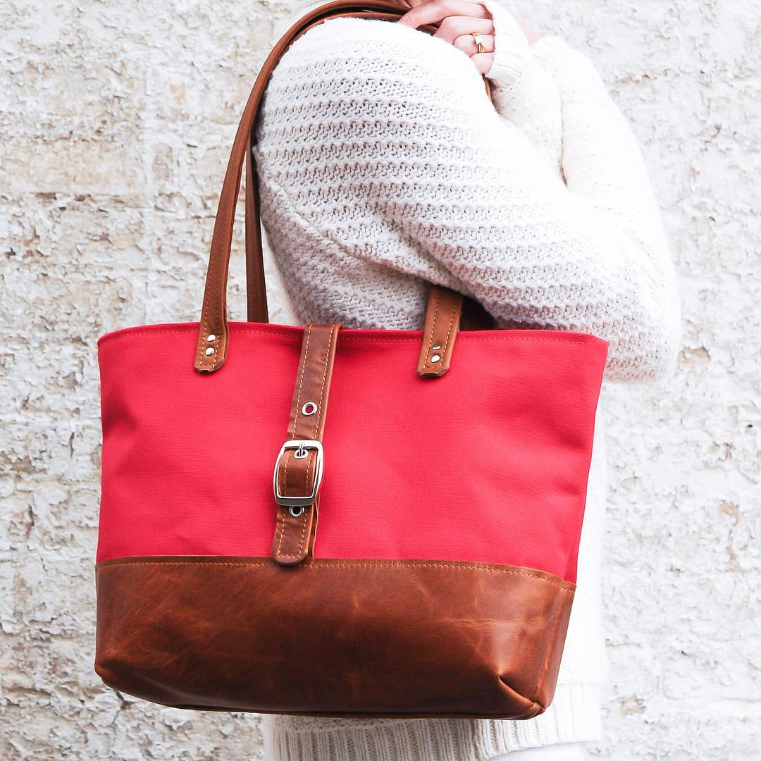 Halsted Bag by Lucy Jane Canvas and Leather