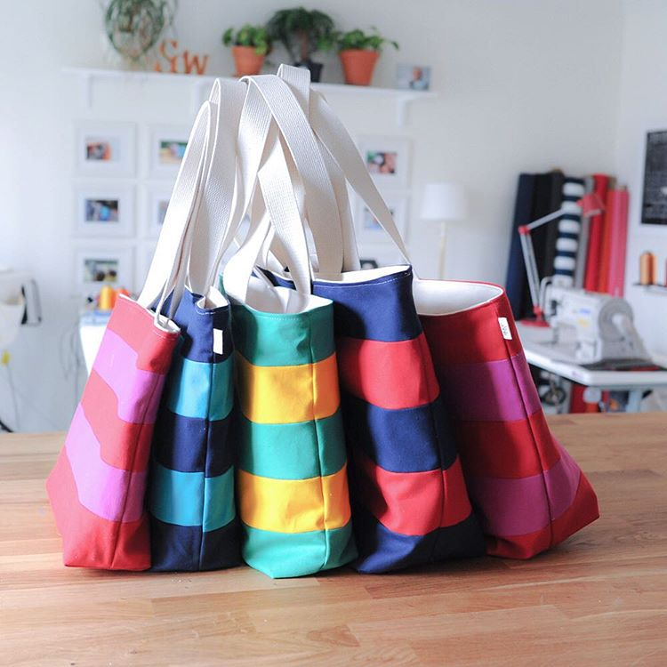 Signature Stripe Totes by Lucy Jane Perfect Game Day Bag